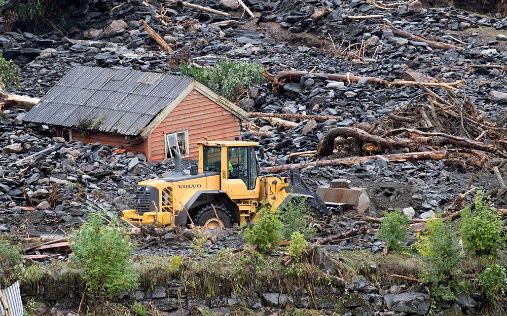 Consequências de deslizamento de terra na Noruega