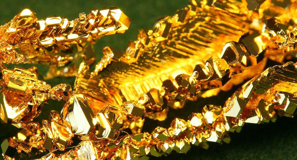 Cristais de ouro