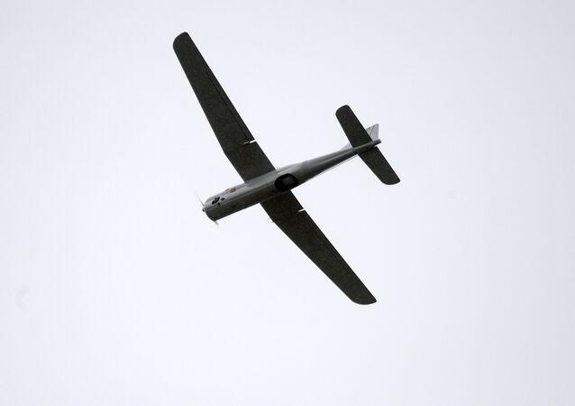 Drone militar durante exercícios militares conjuntos da Bielorússia e Rússia Ocidente-2017
