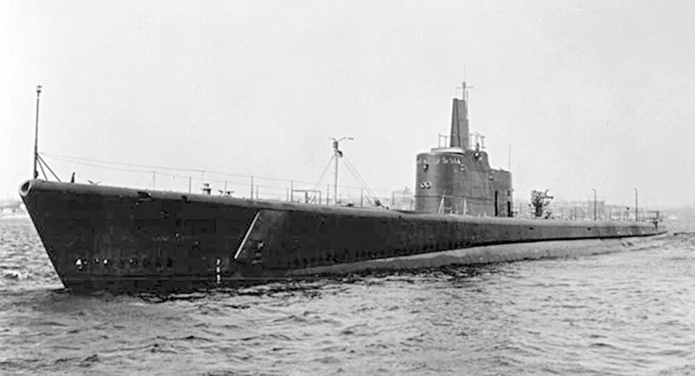 Submarino USS Grunion da Marinha dos EUA (foto de arquivo)