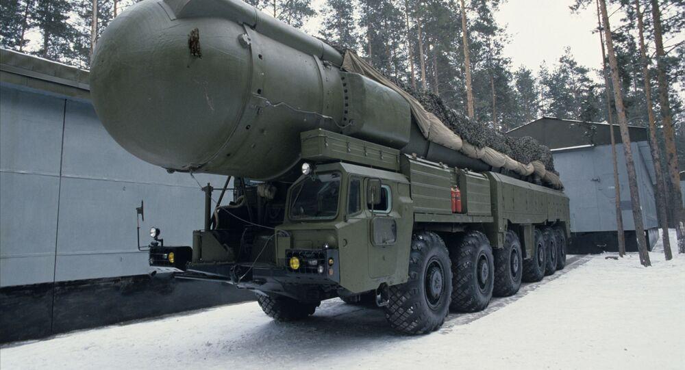 Preparação para desmantelamento do sistema de mísseis RSD-10 no âmbito do Tratado INF (foto de arquivo)
