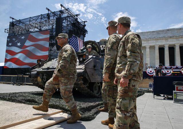 Militares norte-americanos em Washington