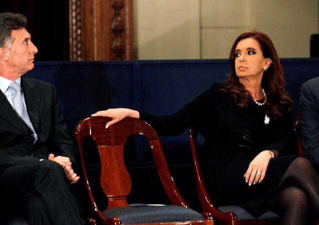 Mauricio Macri e Cristina Fernández de Kirchner