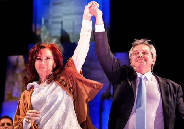 Alberto Fernández e Cristina Fernández de Kirchner