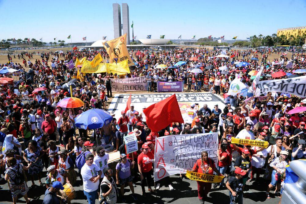 Ato da paralisação nacional de 13 de agosto em Brasília, Distrito Federal