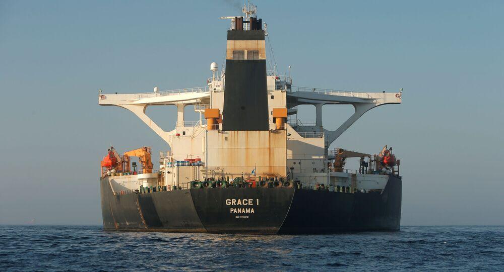 Petrolero iraniano Grace 1 em Gibraltar