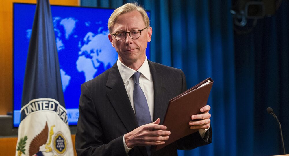 Brian Hook, representante dos EUA para o Irã após declaração sobre a criação do Grupo de Ação para o Irã