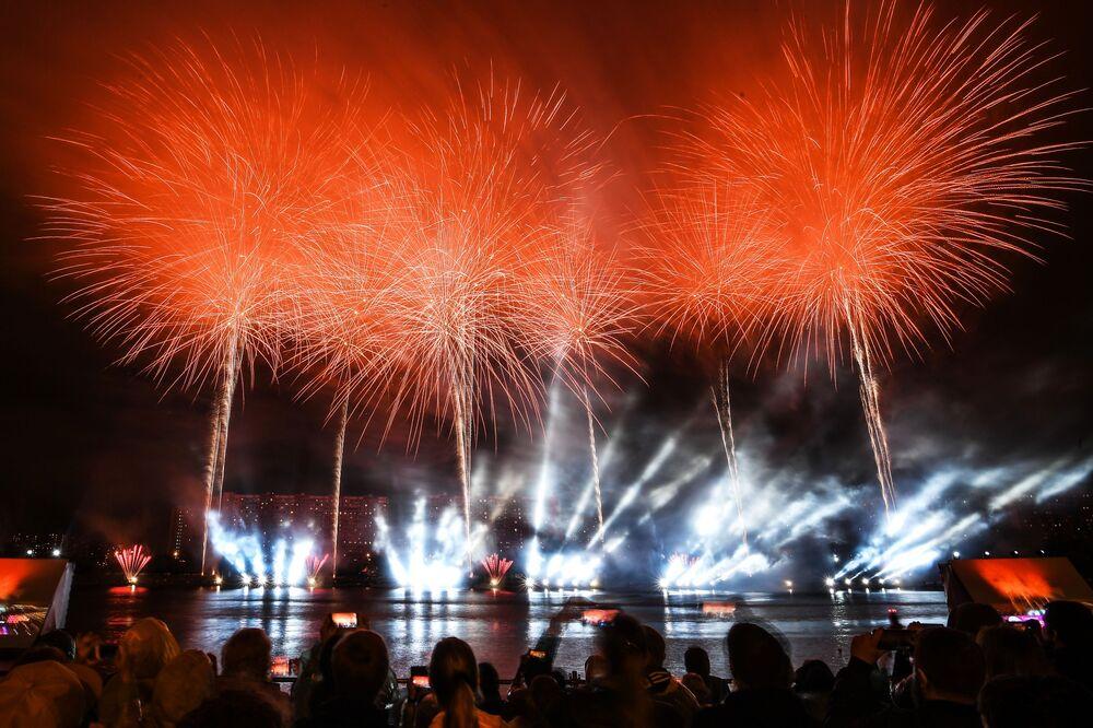Festival Internacional de Fogos de Artifício Rostec em Moscou, 17 de agosto de 2019