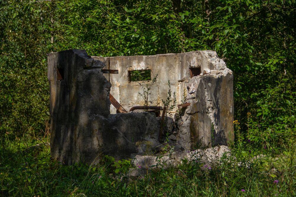 Instalação de ventilação na antiga base secreta de Dvina, na Bielorrússia