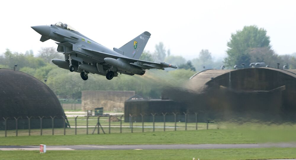 Caça Typhoon da Força Aérea britânica (foto de arquivo)