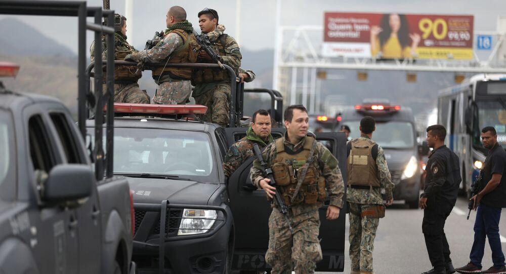 Operação policial durante sequestro na Ponte Rio-Niterói, 20 de agosto de 2019.