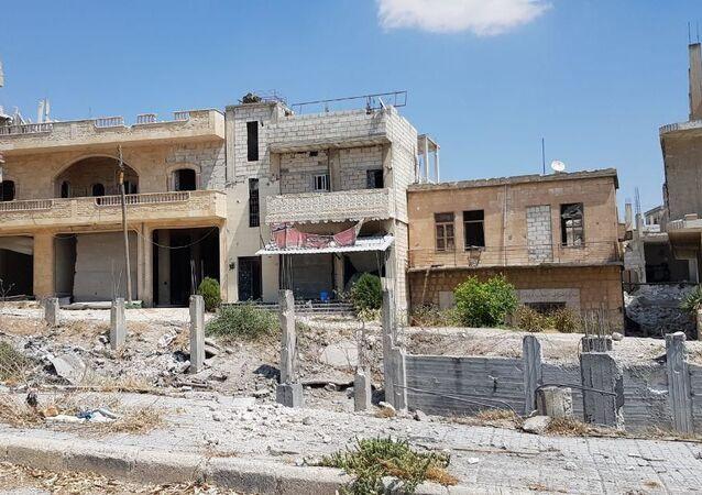 Сidade síria de Khan Shaykhun, no sul da província de Idlib, após sua libertação