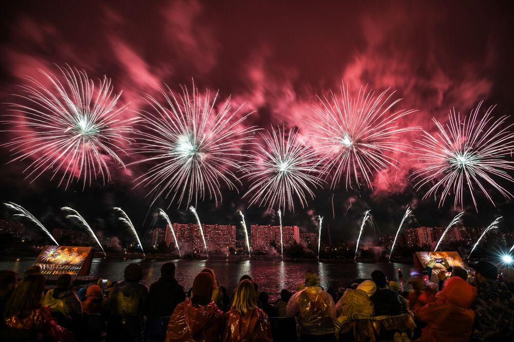 Festival Internacional de Fogos de Artifício Rostec em Moscou