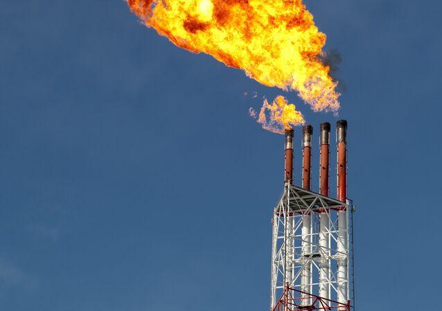 Uma planta de liquefação de gás (imagem referencial)