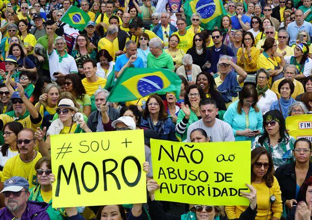 Manifestação do Vem Pra Rua no Rio de Janeiro.