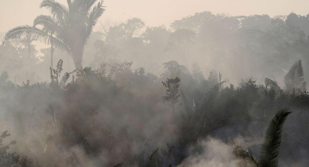 Imagem de queimada na Amazônia