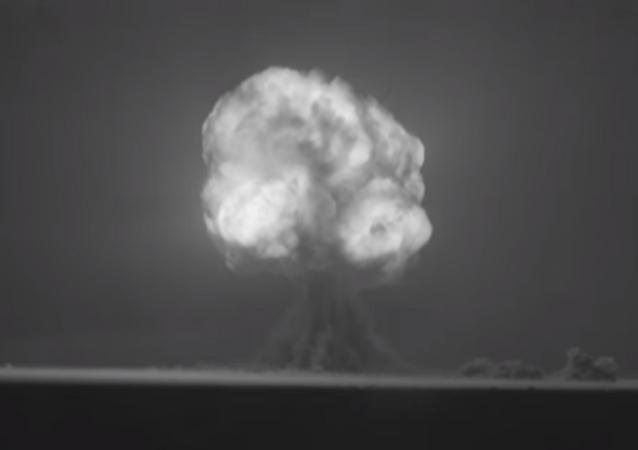 Exploração da Trinity, a primeira bomba nuclear (foto de arquivo)