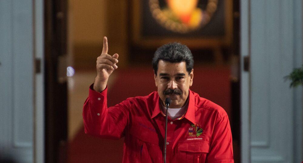 Nicolás Maduro, presidente da Venezuela, durante discurso (arquivo)