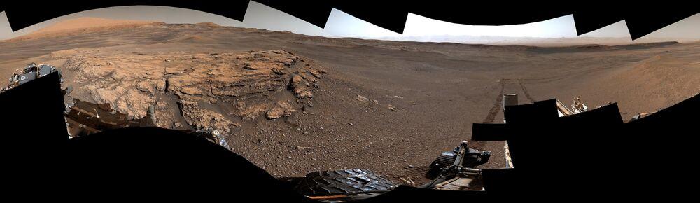 Amostras de barro descobertas pelo rover Curiosity nas encostas do Monte Sharp, em Marte