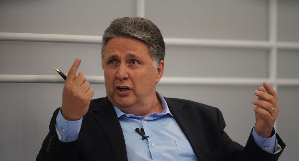 O ex-governador do Rio de Janeiro, Anthony Garotinho, durante debate promovido pelo UOL, Folha e SBT em 19 de setembro de 2018.