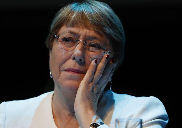 Michelle Bachelet, alta comissária da ONU para direitos humanos, Cidade do México, 9 de abril de 2019