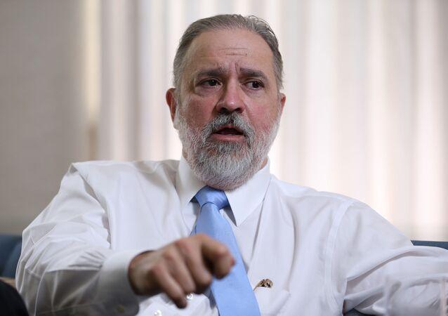 O subprocurador-geral da República Augusto Aras, durante entrevista à Folha em Brasília, em abril de 2019
