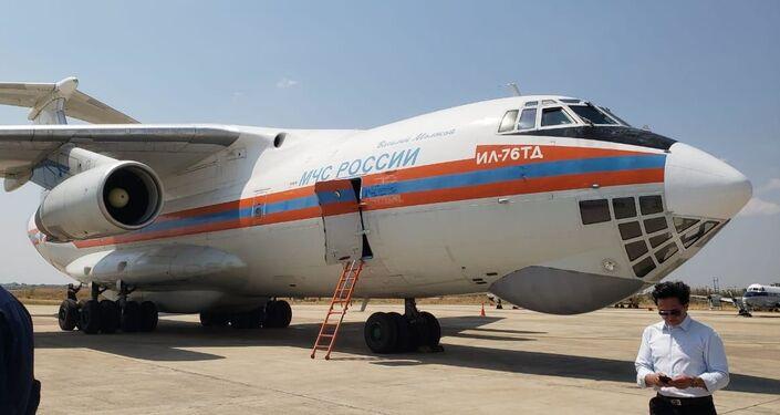 Avião russo de combate a incêndios Il-76