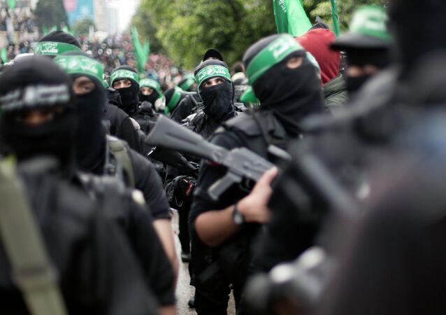 Militantes do Hamas em Gaza