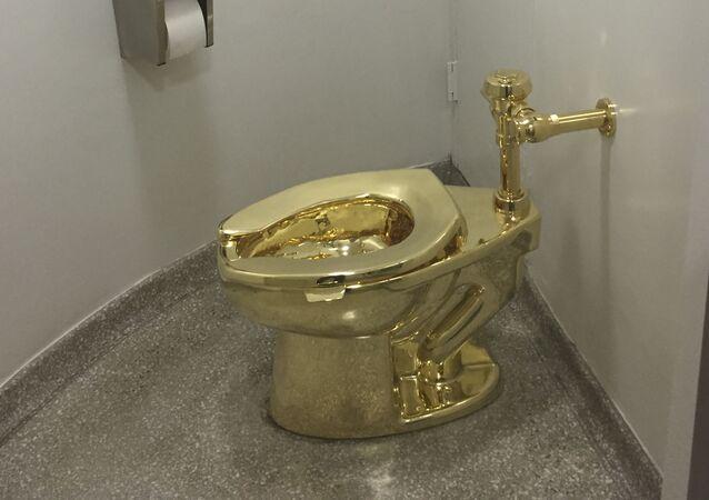 O vaso sanitário roubado do Palácio de Blenheim no Reino Unido