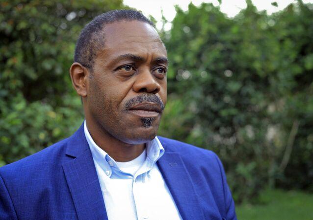 O então ministro da Saúde da República Democrática do Congo durante entrevista em Beni, em 20 de dezembro de 2018. O ministro coordenou uma campanha de combate a um surto de ebola no país.