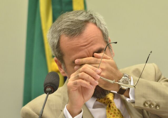 Abraham Weintraub, ministro da Educação do Brasil, durante apresentação e debate do projeto Future-se, do Ministério da Educação, na Comissão de Finanças e Tributação da Câmara dos Deputados, em Brasilia, em agosto de 2019