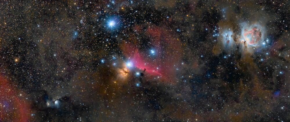 Constelação de Orion retratada pelo fotógrafo britânico Ross Clark, que ganhou na categoria Melhor Iniciante na competição Insight Investment Astronomy Photographer of the Year 2019