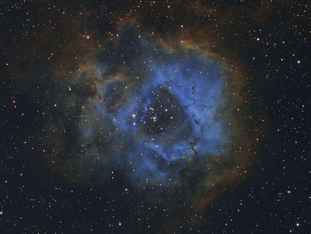 Nebulosa Roseta registrada pelo fotógrafo holandês Davy van der Hoeven, que ganhou o 1º lugar na categoria Jovem Astronomia do Fotógrafo do Ano, na competição Insight Investment Astronomy Photographer of the Year 2019