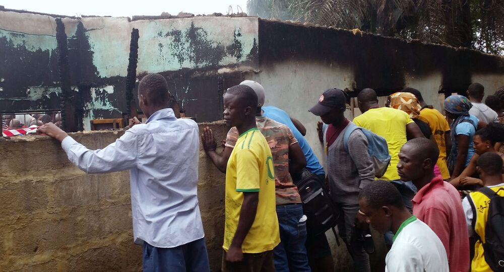 Incêndio em escola corânica de Paynesville, no subúrbio de Monróvia, na Libéria