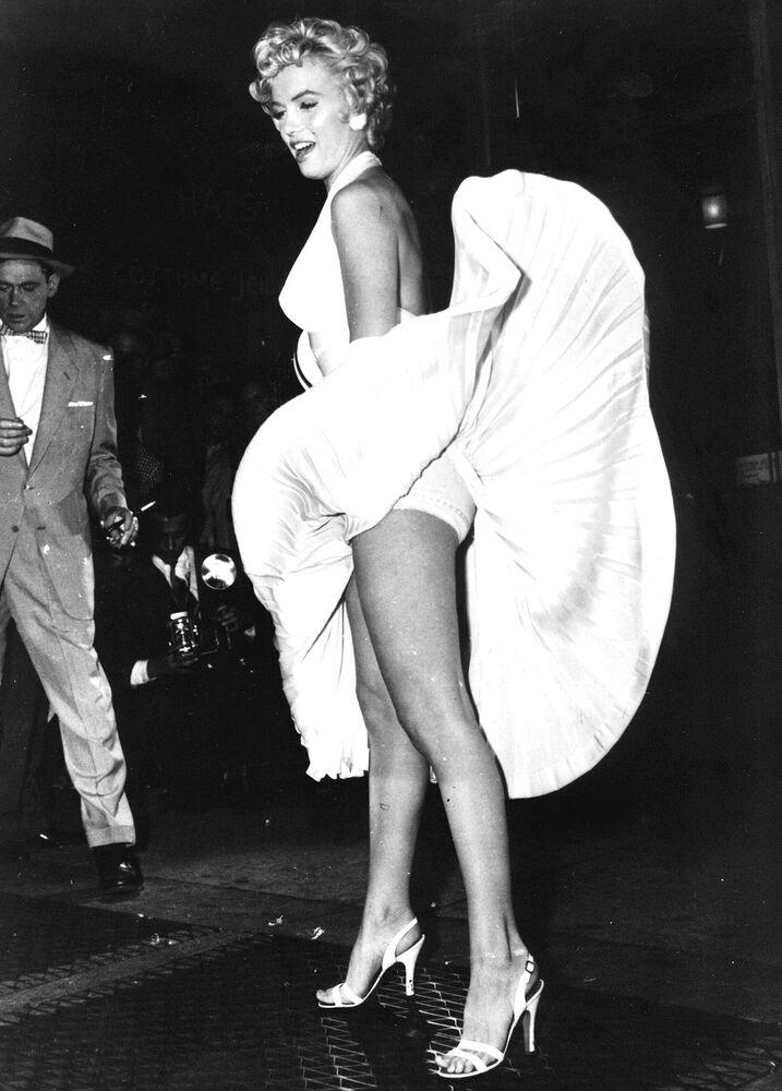 Marilyn Monroe no episódio famoso do filme O Pecado Mora ao Lado