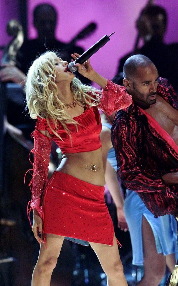 Cantora e atriz norte-americana Christina Aguilera durante a primeira premiação do Grammy Latino, em Los Angeles