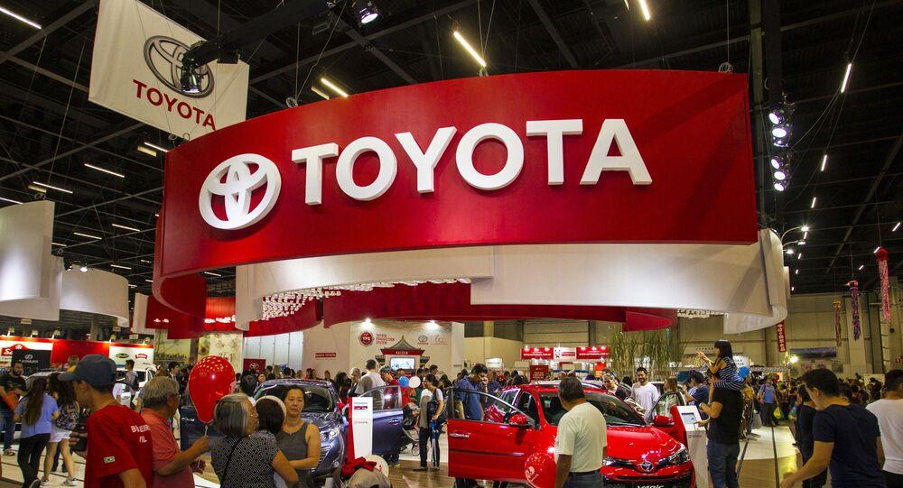 Stand da Toyota durante o 21º Festival do Japão 2018 realizada no São Paulo Expo em São Paulo, no dia 25 de junho de 2016.