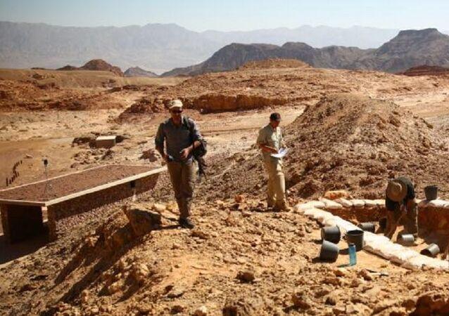 Escavações de antigas minas de cobre