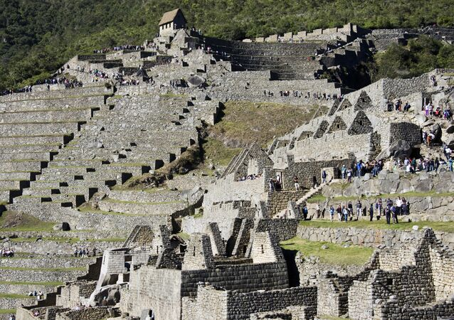 Ruínas da antiga cidade de Machu Picchu, no Peru