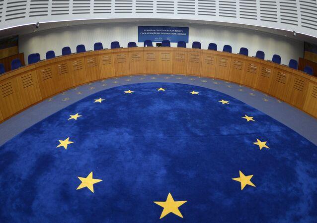 Sala de audiência do Tribunal Europeu dos Direitos do Homem, em Estrasburgo, França
