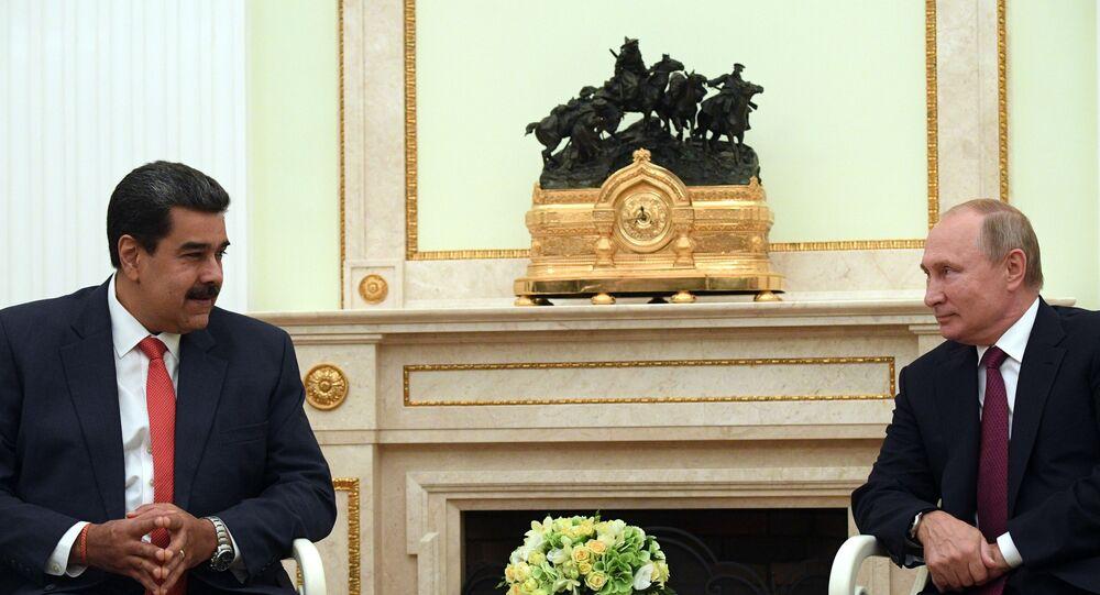 Encontro entre o presidente venezuelano, Nicolá Maduro e o presidente russo, Vladimir Putin