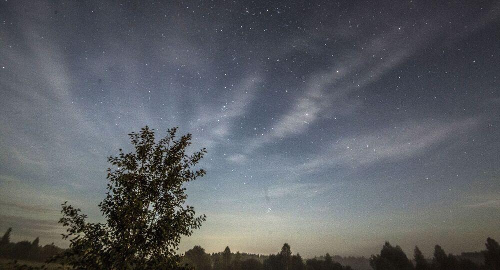 Céu na região de Moscou durante tempestade de meteoros, em agosto de 2019 (foto de arquivo)