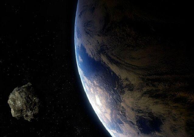 Um asteroide perto da Terra (imagem ilustrativa)