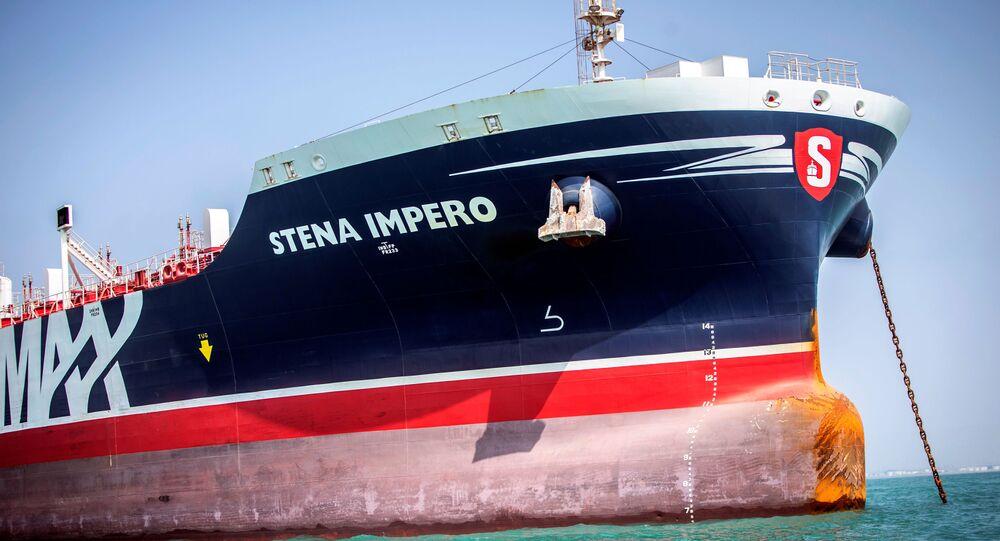 Navio-taque de bandeira britânica Stena Impero