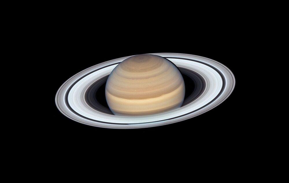 Foto de Saturno feita pelo observatório espacial Hubble da NASA