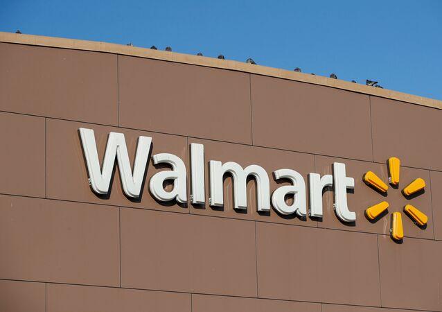 Logo de loja do supermercado norte-americano Wallmart em Chicago, Illinois, nos EUA