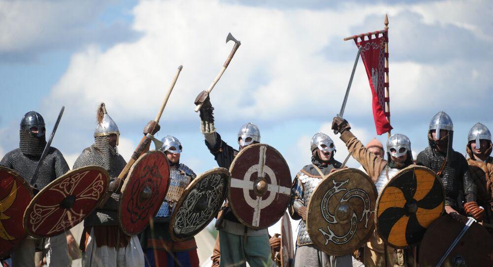 Vikings no festival anual de Clubes de História da Rússia, celebrado na região de Serpukhov (foto de arquivo)