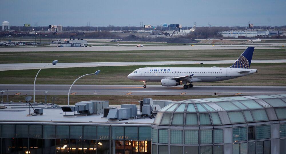 Aeroporto Internacional O'Hare, em Chicago, Illinois, EUA, 11 de abril de 2017