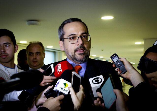 O ministro da Educação, Abraham Weintraub, participa do 21º Fórum Nacional Ensino Superior, na zona sul de São Paulo (foto de arquivo)