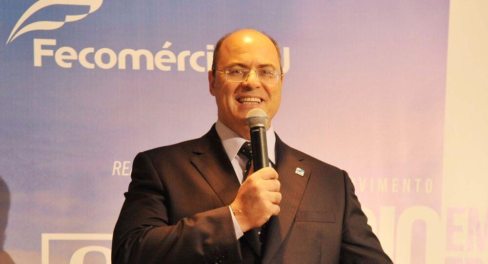 Governador do Rio, Wilson Witzel, durante evento na capital fluminense (foto de arquivo)